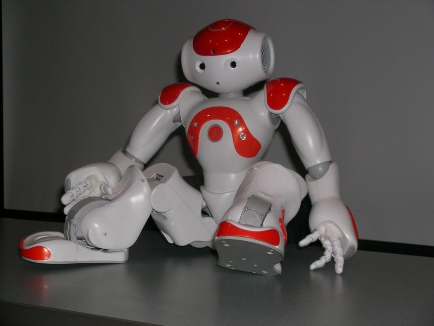 Mackenzie Hurlbert | General Assignment Reporter The NAO robot, created by the company Aldebaran Robotics, costs $16,000.