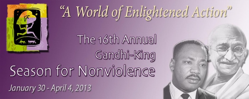 Photo Courtesy   Unityoffairfax.org The 64 days of non-violence is a campaign inspired by Martin Luther King, Jr., and Mahatma Gandhi's peace efforts.