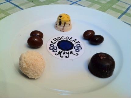 Some of the many treats you can enjoy at Chocolat Maya.