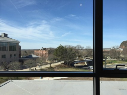 Two of the views accessible from the Academic Success Center. Photos by, Olivia Cintron.