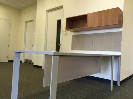 The break room and new reception area for the Academic Success Center. Photo by, Olivia Cintron.