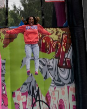 Student during the Weekend Warriors carnival event.