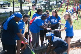 Students, faculty, and staff giving back to the New Haven community.