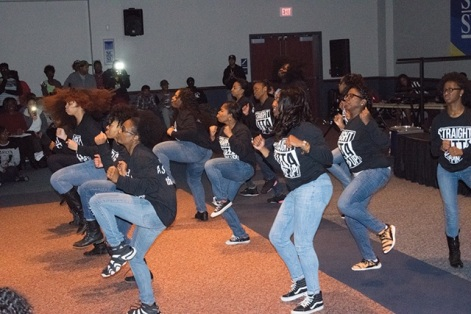 Performance by the Steppin' Up Drill Team.
