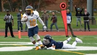SCSU football team vs. Merrimack College. Photo Credit, Tyler Korponai