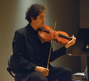Yaroslav Kargin, a gust violinist performing 'Deux Rhapsodies.' Photo Credit, Tyler Korponai.