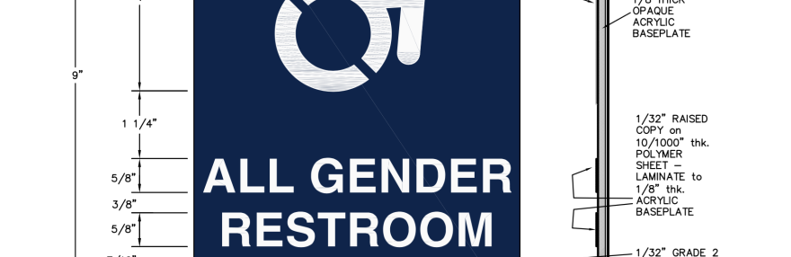 The proposed sign layout for the gender neutral bathrooms on campus Oct. 17, 2016. Photo Courtesy: Tracy Tyree
