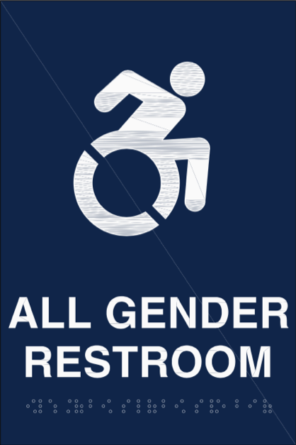 Soon, non-gender specific restrooms will have different signs indicating all gender bathrooms on campus. Photo Courtesy: Tracy Tyree