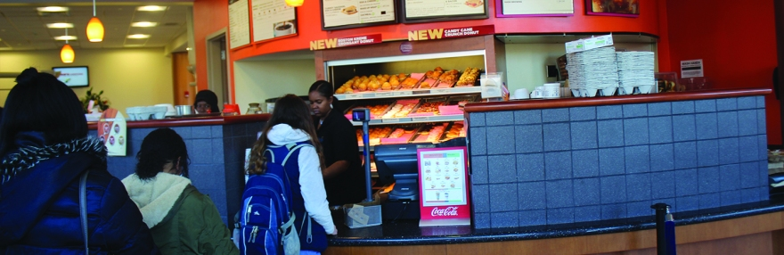 Photo of Dunkin Donuts in the Adanti Student Center on Nov ???